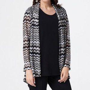 Susan Graver Sweater Knit Open Front Cardigan 1140